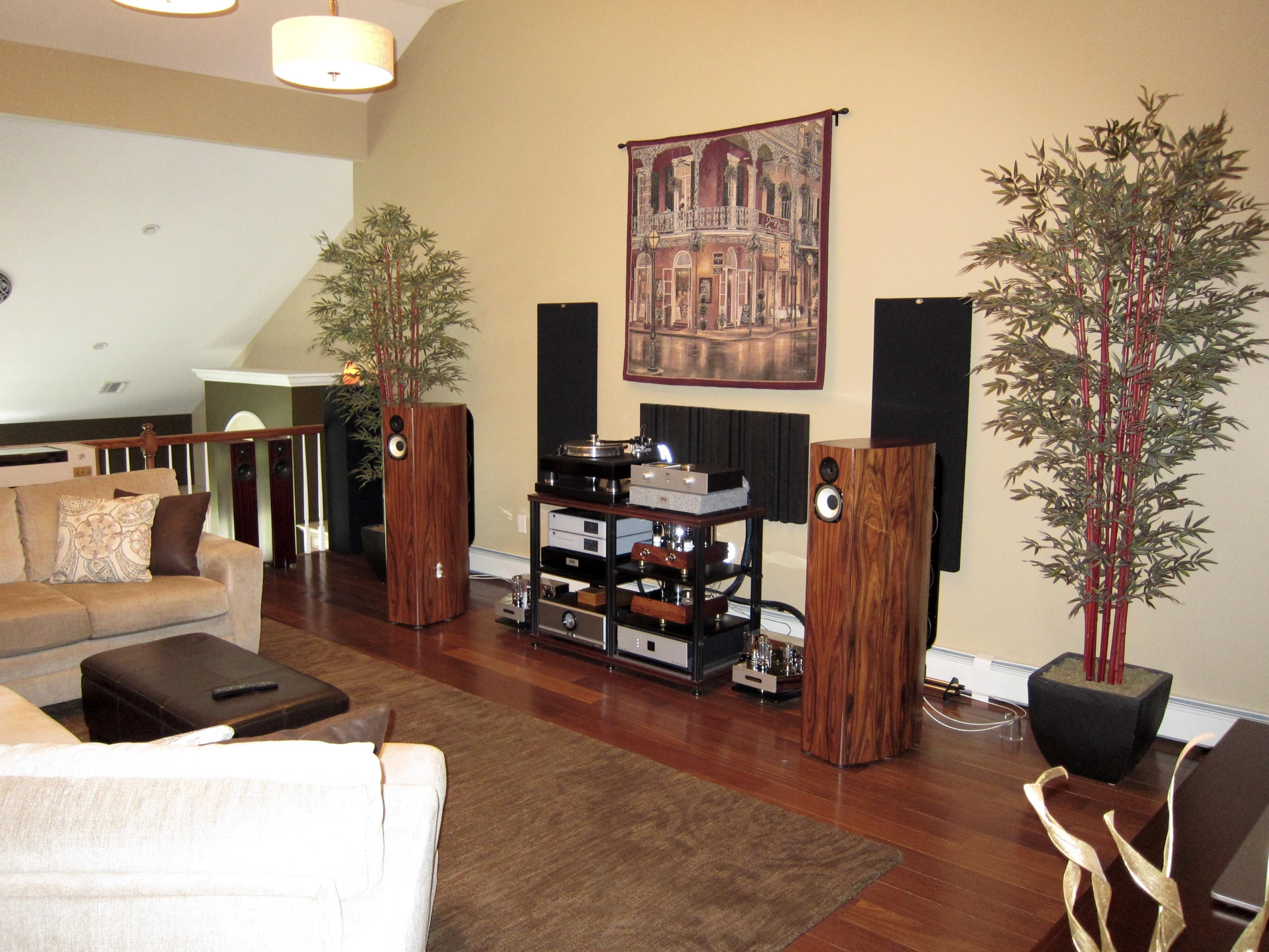 My Loft System Virtual Systems Sound Room Acoustic Room Treatment Listening Room Living room speaker placement