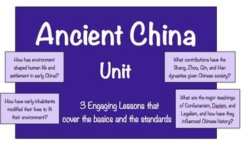 ancient china unit ancient china geography dynasties philosophy more tpt social studies. Black Bedroom Furniture Sets. Home Design Ideas