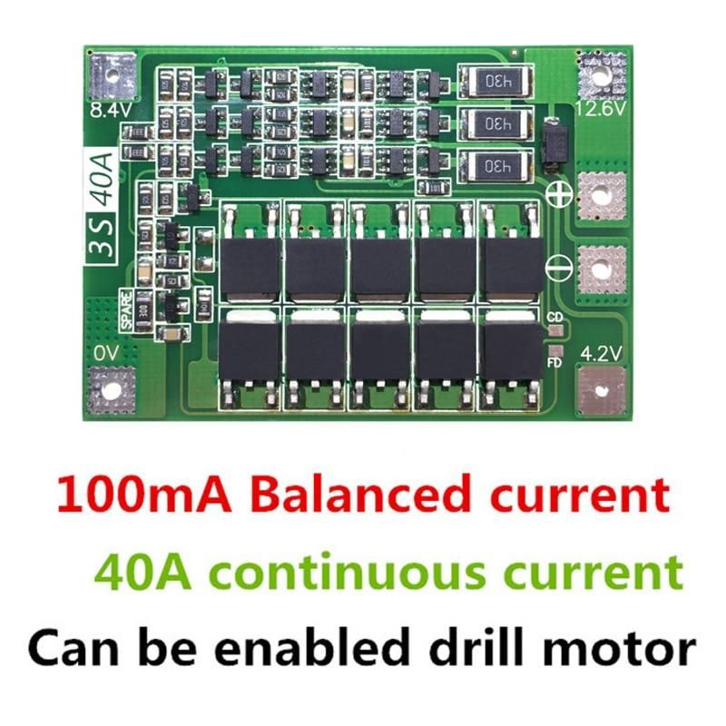 40a Li Ion Lithium Battery Charger Protection Board With Balance