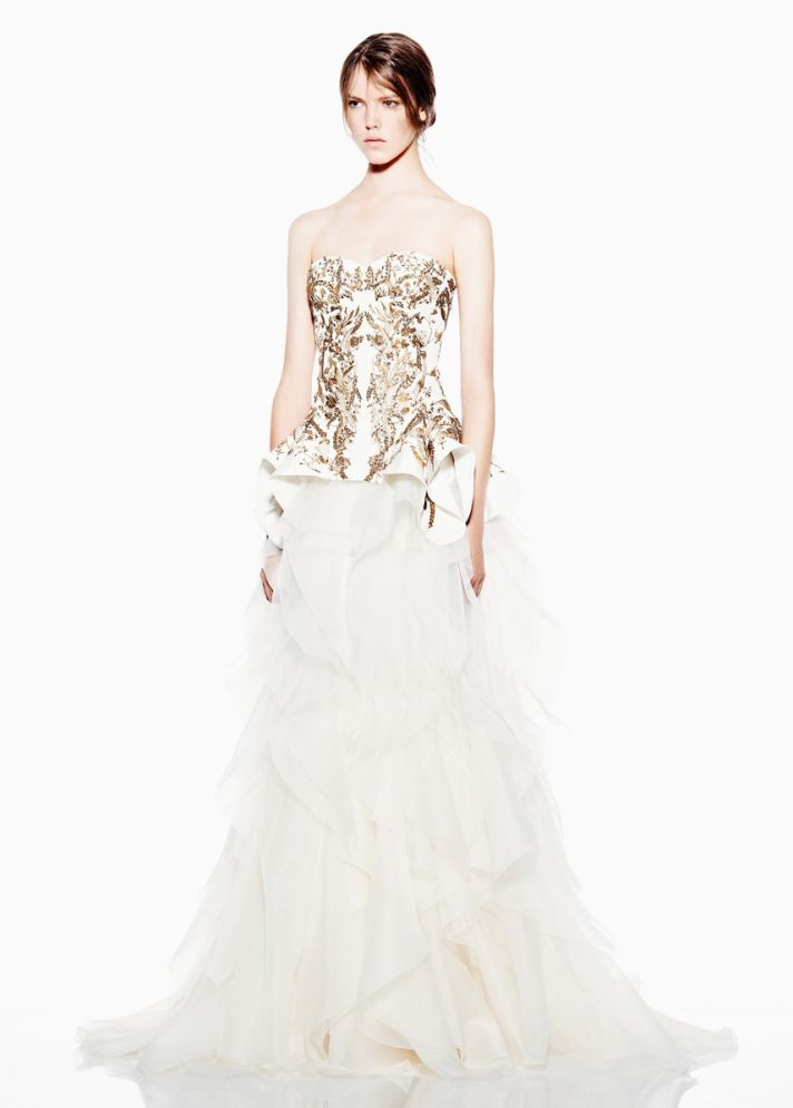 ... Bridal Spring 2013 Wedding Dresses. Inspired Down the Aisle  Alexander  McQueen cbb0540298d6