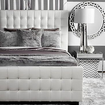 West Street Bed - White | Beds | Bedroom | Furniture | Z Gallerie ...