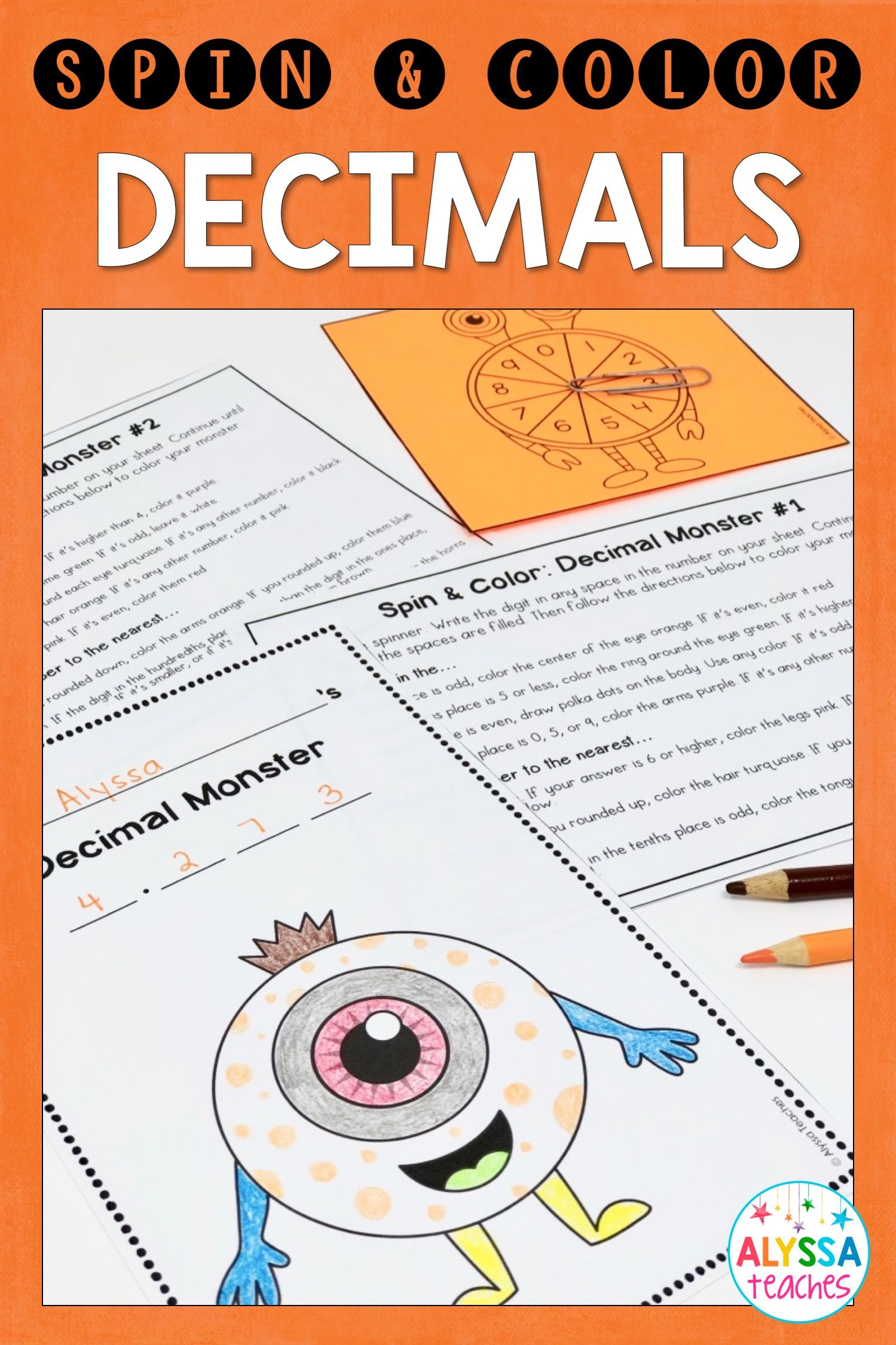 Decimal Place Value And Rounding Coloring Activity