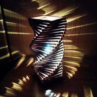 Spiral lamp summer boredom boredom busters and spiral for Cool things made out of popsicle sticks