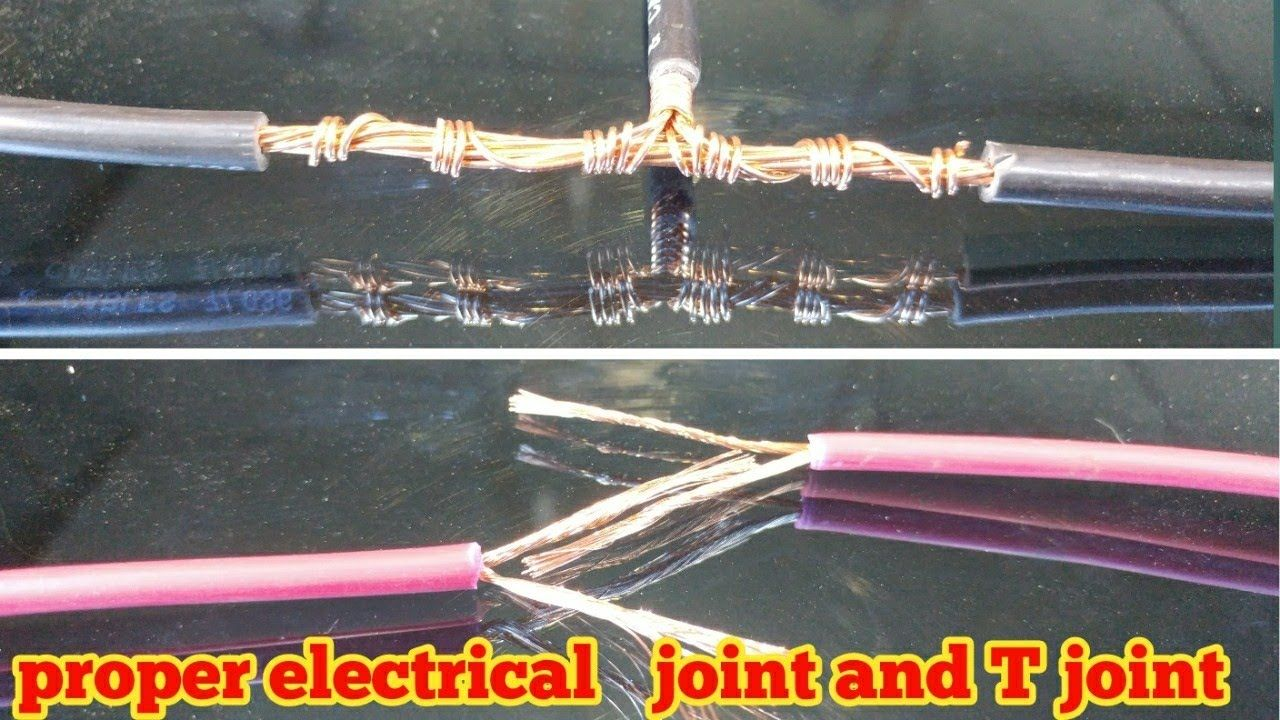 Proper joint of electric wire and cable T joint 2018 ... on