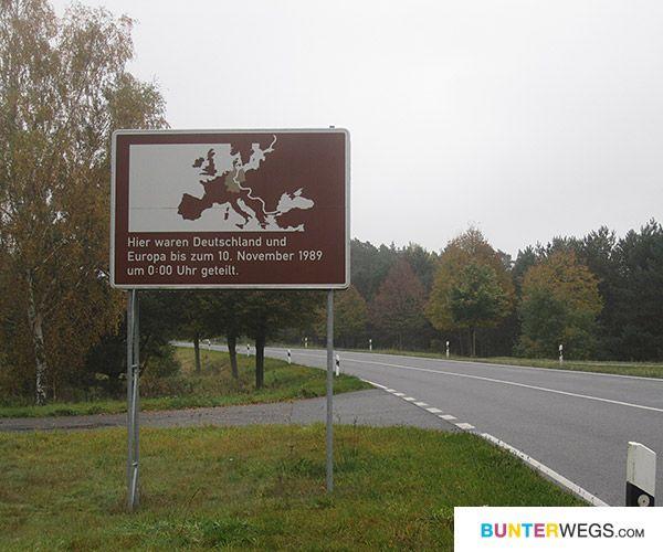 Die Grenze von West- und Ost-Deutschland * BUNTERwegs.com