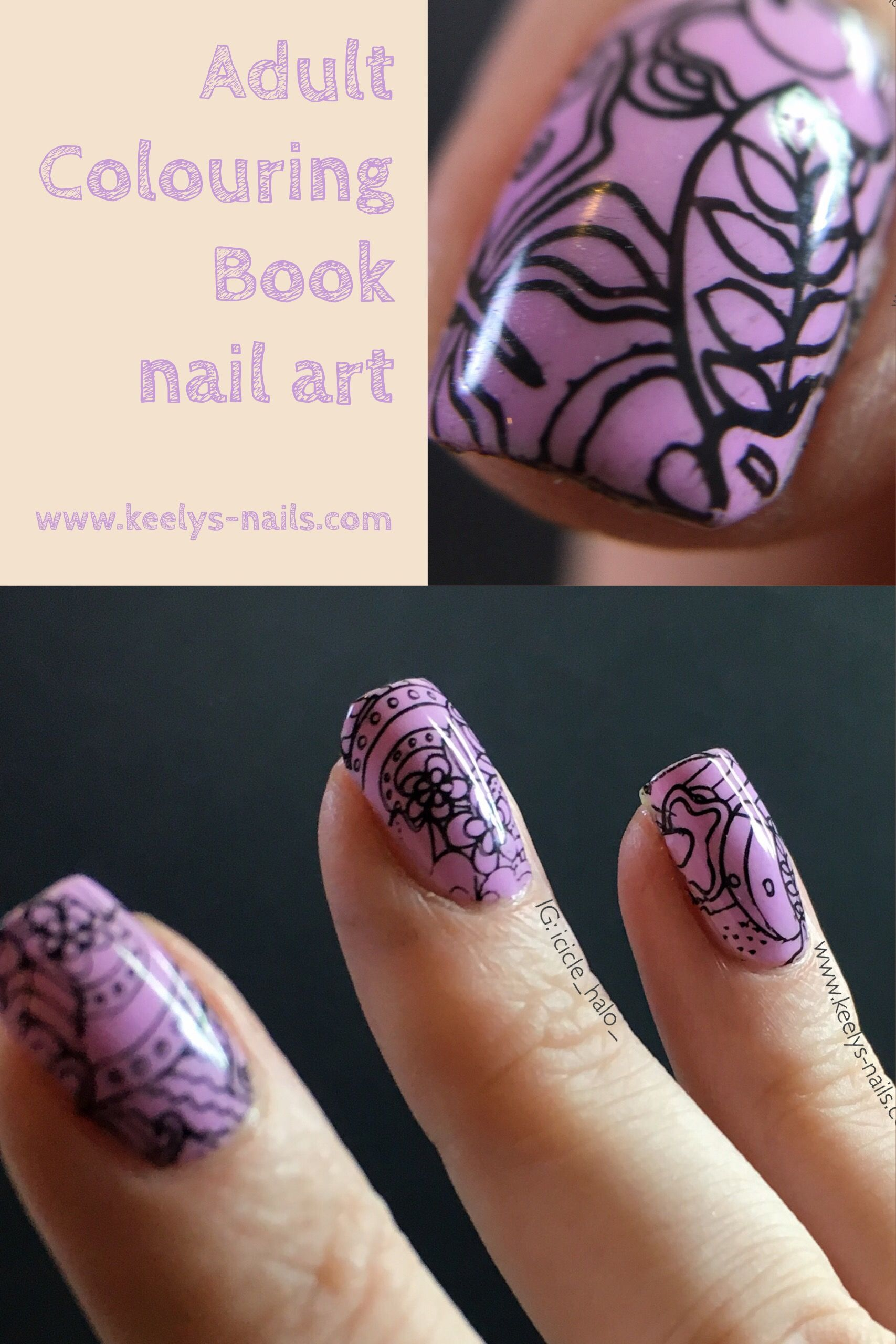 Adult Colouring Book Nail Art For Maniswap Pinterest Adult