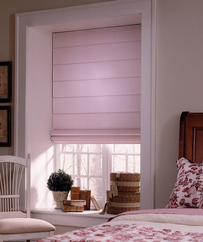 Beautiful Pink Roman Shade Perfect For Your Bedroom