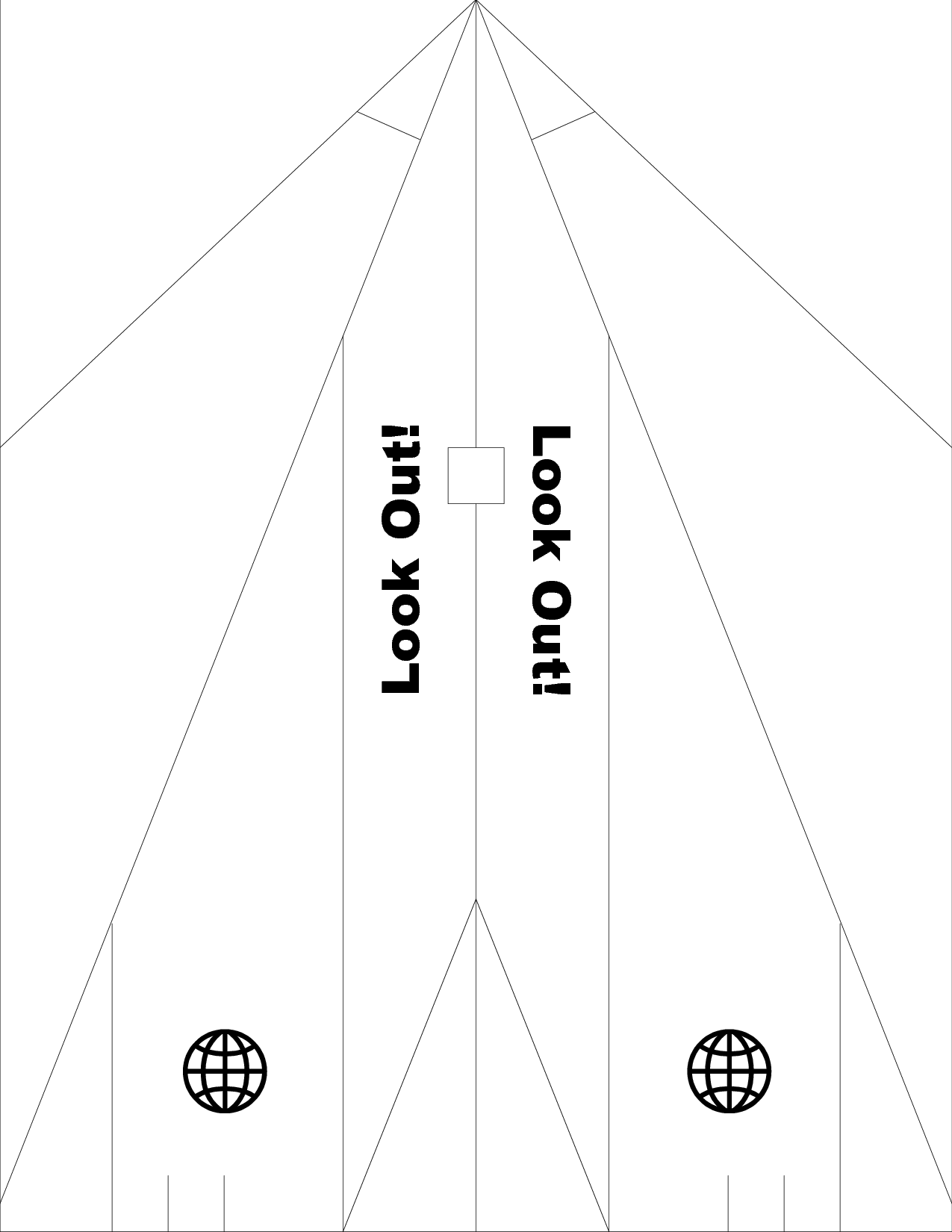 Paper Airplane Template for Airplane day. Put into word and add ...