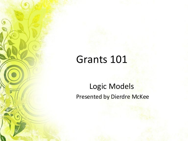 Want to learn to use logic models in your grant? This Powerpoint