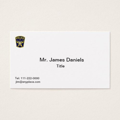 Police Officer Business Card Zazzle Com Police Officer Police Printing Double Sided