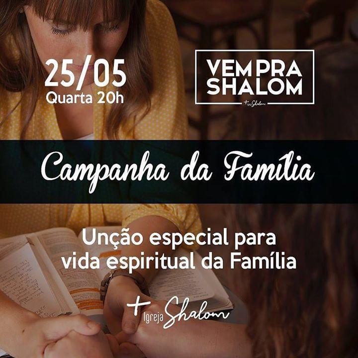 Último dia da Campanha da Família  Não perca!! Chame toda sua família e familiares. by shalomanapolis http://ift.tt/1TEbuol