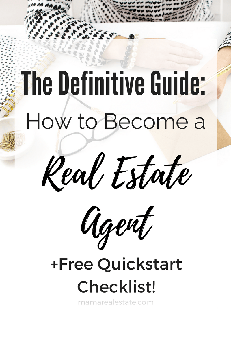 The Definitive Guide: How to Become a Real Estate Agent | Pinterest ...