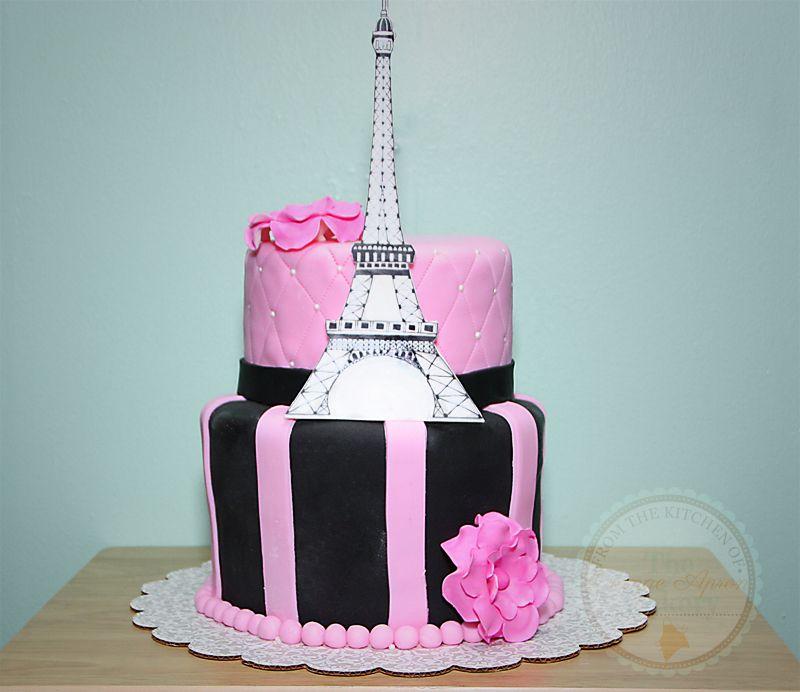 pretty 3 dimensional cakes Paris Eiffel Tower Birthday Cake Fun