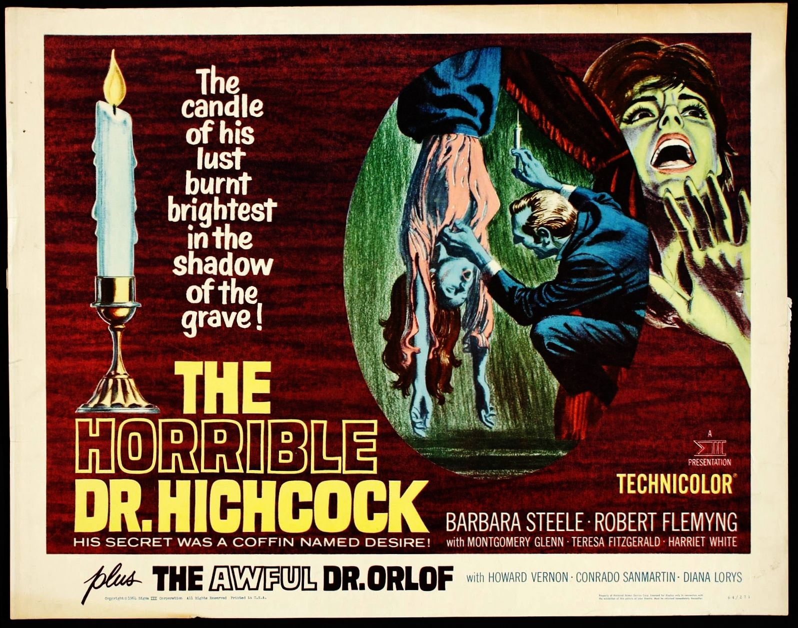 THE HORRIBLE DR. HICHCOCK 1962 poster