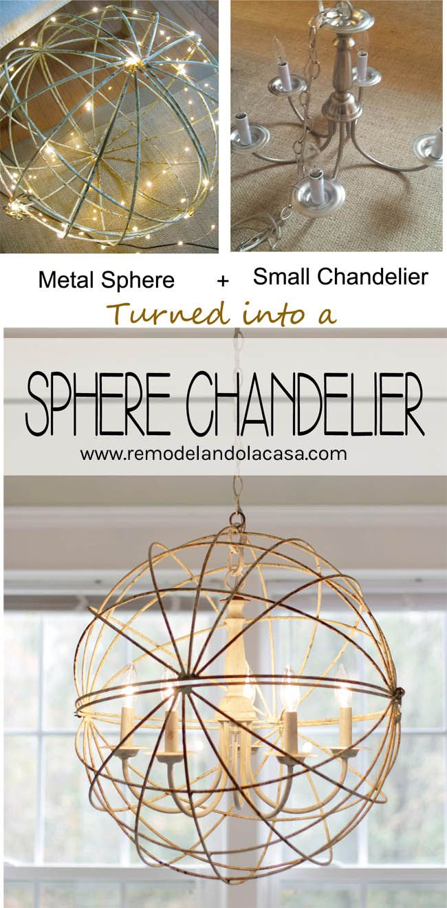 Sphere Chandelier for the Dining Room | Diy chandelier ...