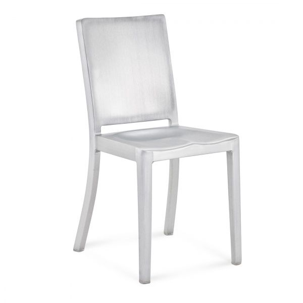 """HUDSON CHAIRHUDThe Hudson, designed for the Hudson hotel in NYC, is Emeco and Starck's first collaboration. Starck described the chair as """"washing the details from the Navy Chair"""". It takes an additional 8 hours to polish each Hudson chair. Hudson is in MoMa's permanent collection. - Emeco Chairs"""