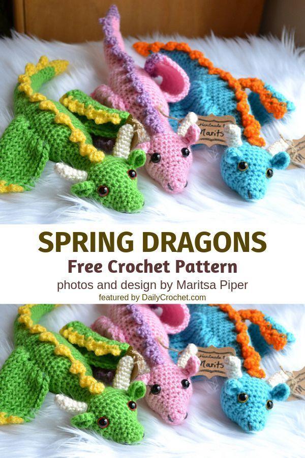 Paid Pattern Graceful Crochet Dragon Free Pattern um Fantasie und Legende zum Leben zu erwecken gestrickt ideen Graceful Crochet Dragon Free Pattern um Fantasie und Legen...