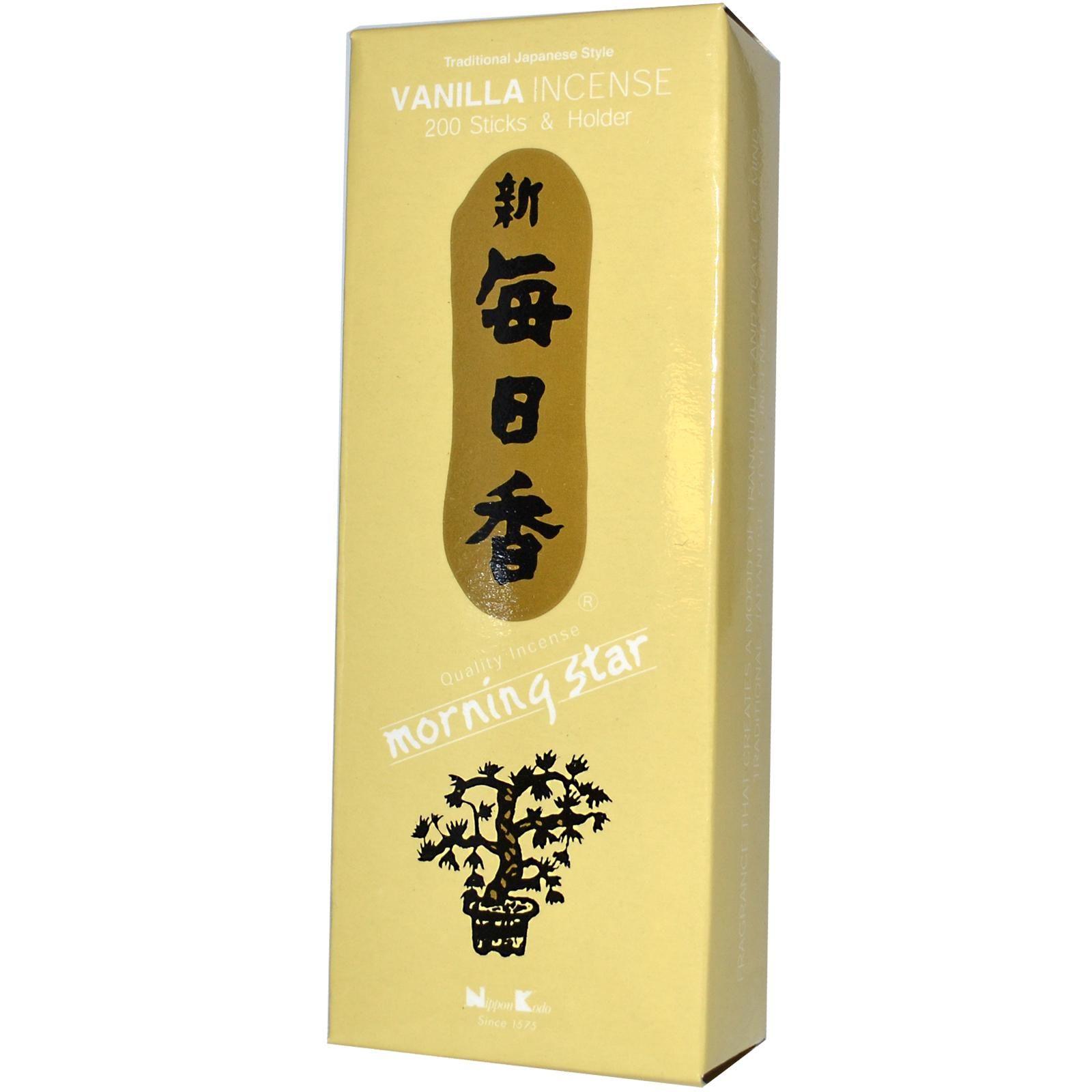 Nippon Kodo, Morning Star, Vanilla Incense, 200 Sticks