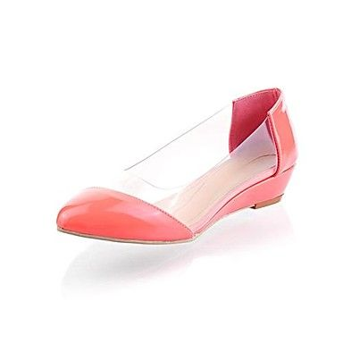 Patent Leather/Plastic Women's Flat Heel Comfort Flats Shoes(More Colors) –  USD