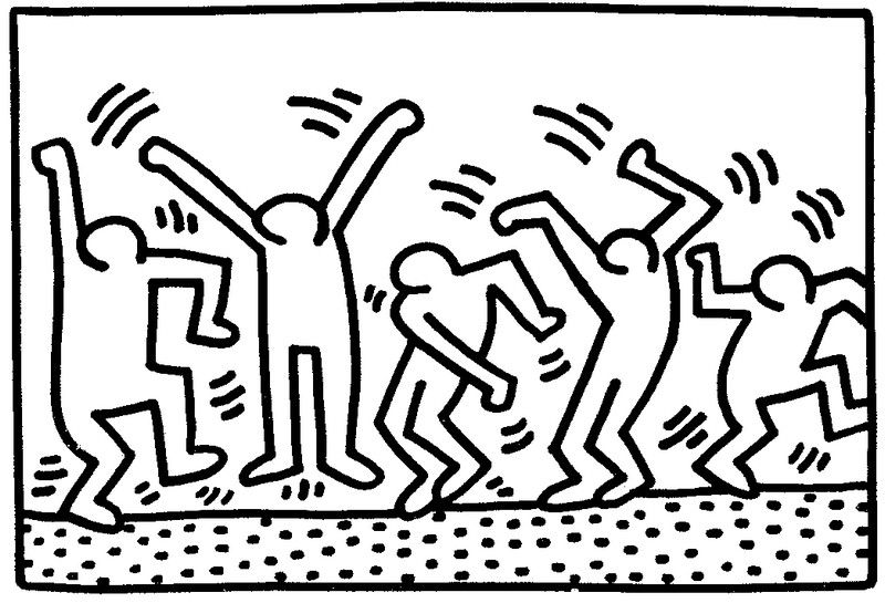 keith haring figure templates - coloriage keith haring idees boulot pinterest keith