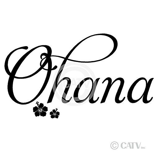 Ohana Means Family Quote Tattoo: Ohana (Family) Wall Saying Vinyl Lettering Art Decal Quote