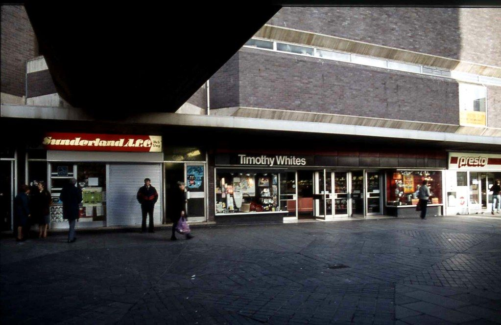 Timothy Whites In The Market Place 28 February 1983 Sunderland Penshaw Monument Places