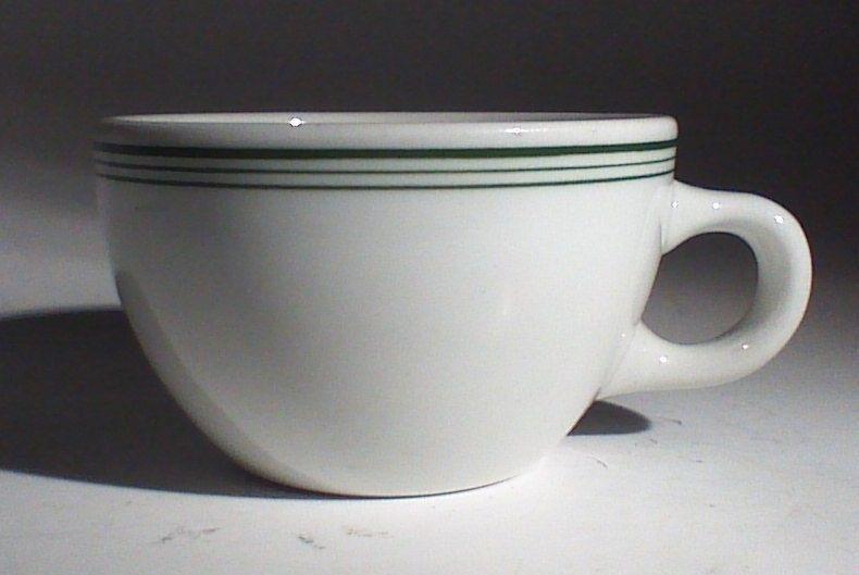 Vintage Mid-century Shenango Green Stripe Diner Style Coffee Cup #Shenango & Vintage Mid-century Shenango Green Stripe Diner Style Coffee Cup ...