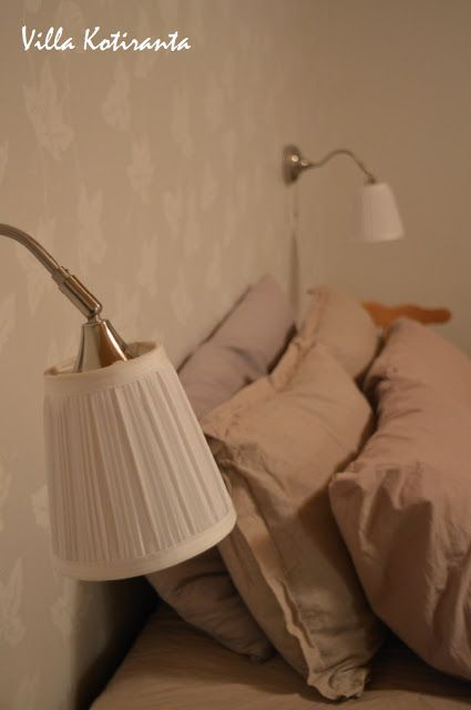 Uuden kotimme makuuhuone. / The bedroom of our new home.
