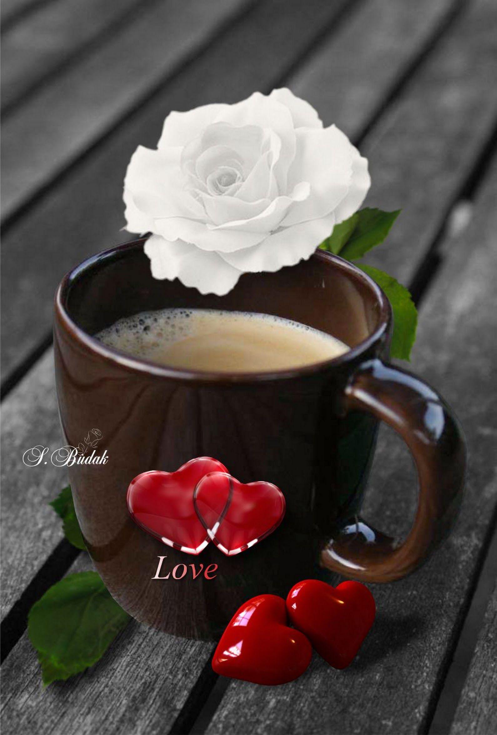 Анимация, картинки кофе шоколад цветы
