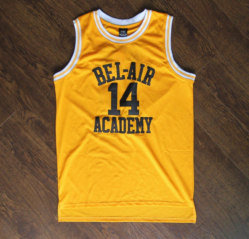 14 The Fresh Prince of Bel-Air Will Smith Bel-Air Academy Basketball Jersey  (3 colors) ff372aa31da2