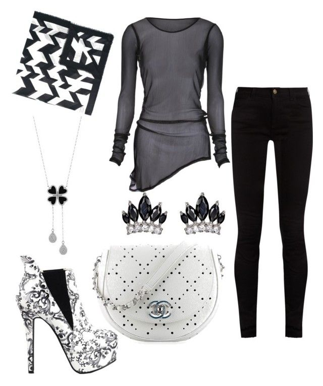 """""""Untitled #215"""" by rubysparks90 on Polyvore featuring Salvatore Ferragamo, Gucci, Chanel and Fallon"""
