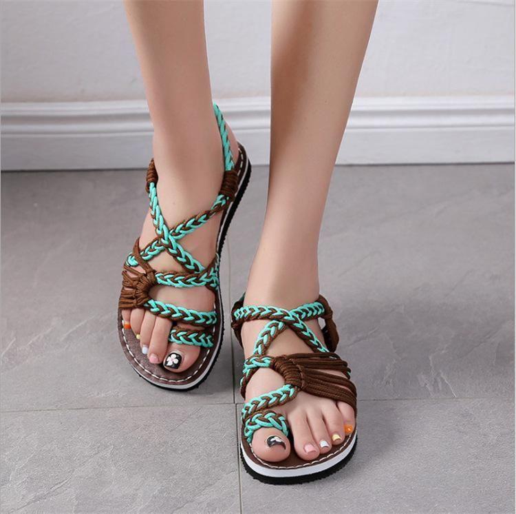 Photo of Criss Cross Straps Clip Toe Flat Sandals