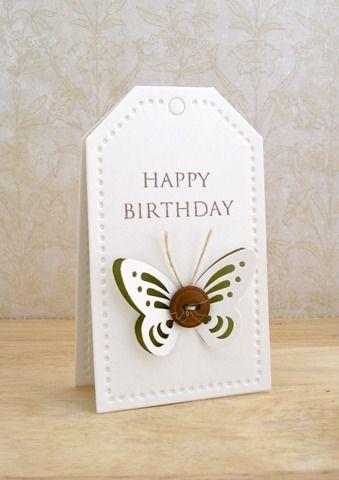 Soooo cute. Little card OR tag.