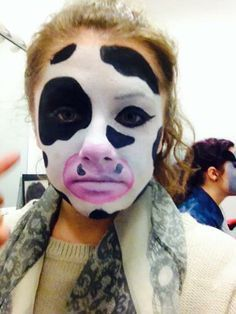 image result for cow face paint  click clack moo