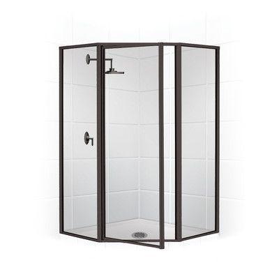 Coastal Shower Doors Legend Neo Angle Series 58 X 70 Hinged Shower Door Coastal Shower Doors Shower Doors Shower Enclosure