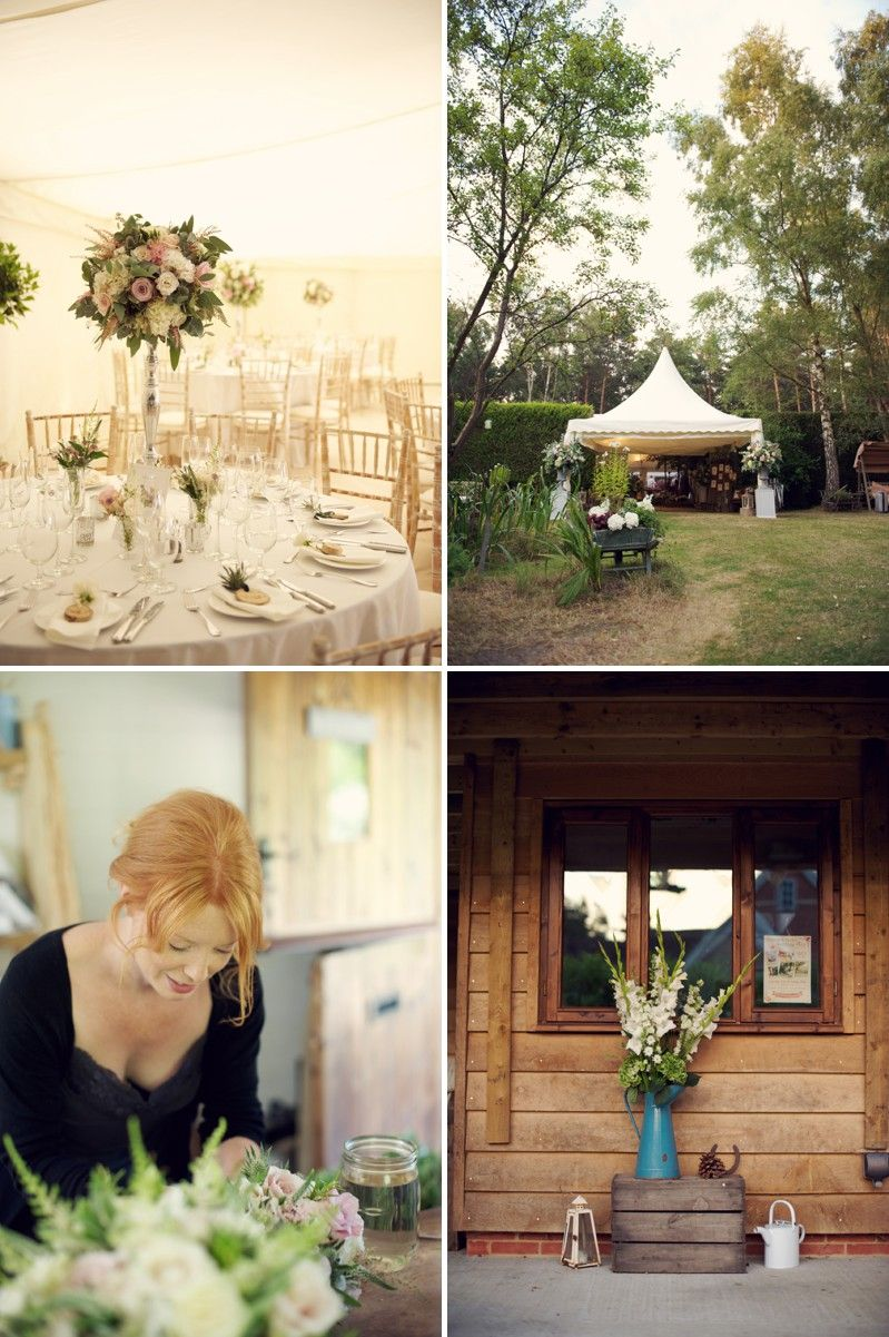 A rustic scottish and english themed woodland wedding in surrey with