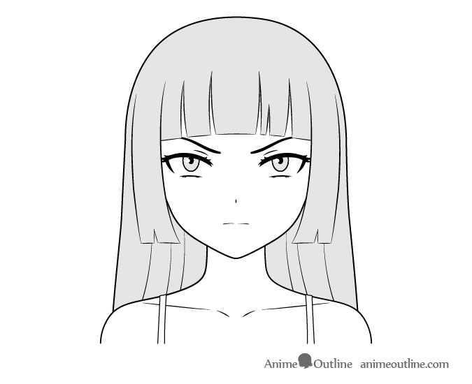 Anime Villain Girl Face Drawing Anime Face Drawing Anime Character Drawing Anime Drawings