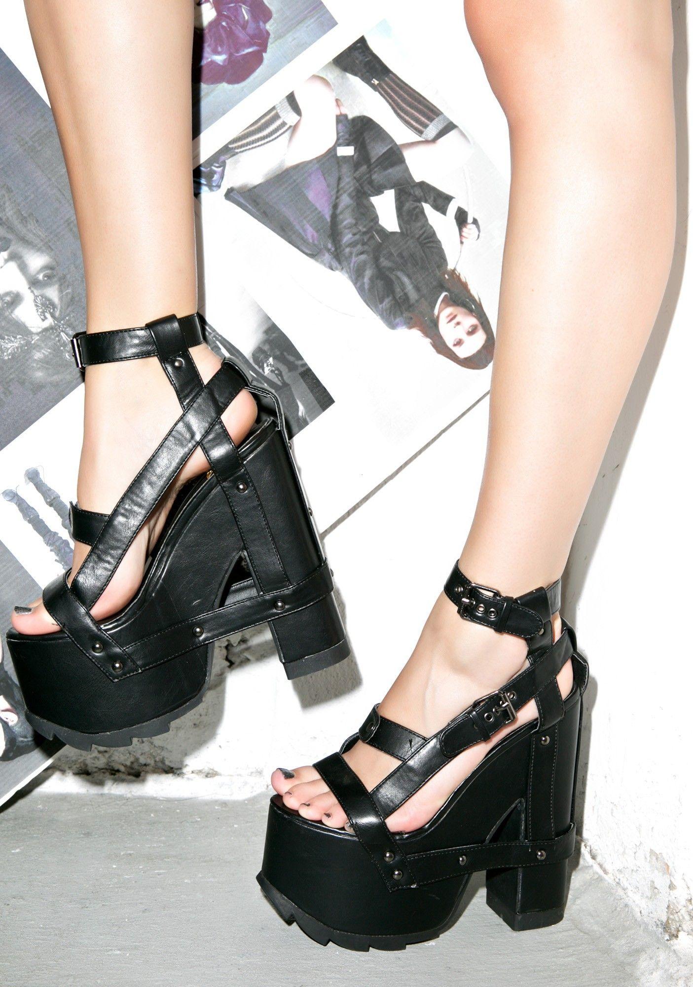 Y.R.U. Nightcall Platform Heels   靴, フ