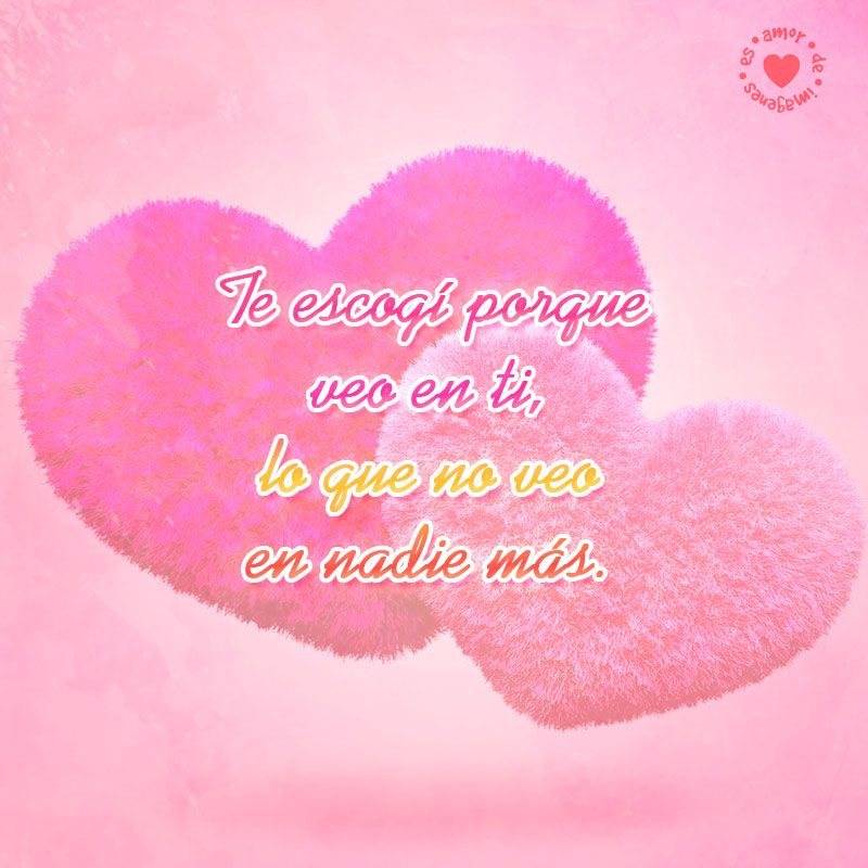 Hermosos Corazones Rosados Con Bonita Frase De Amor Para Dedicar