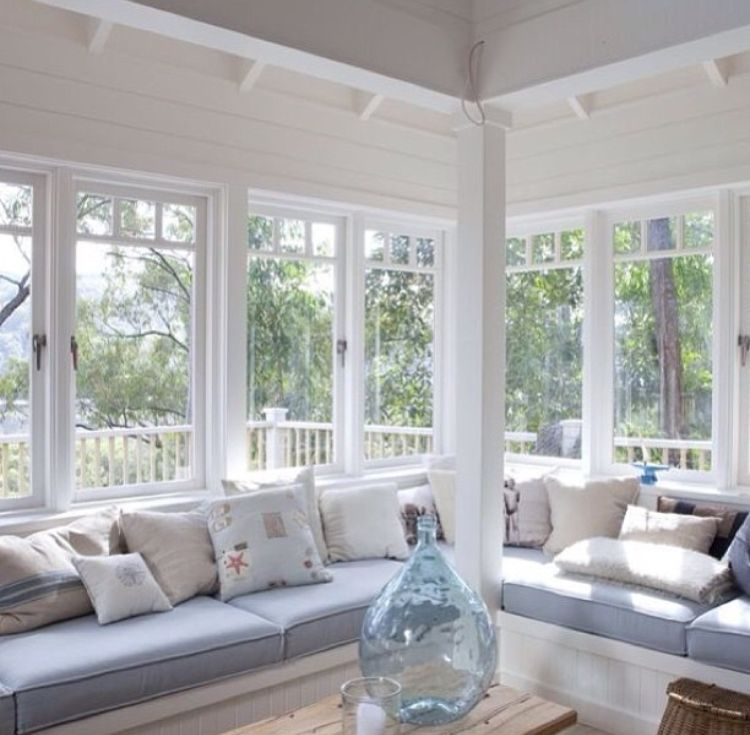 Bay Window Seat For A Lovely Addition: Love... Big Airy Windows With Wrap Around Window Seat