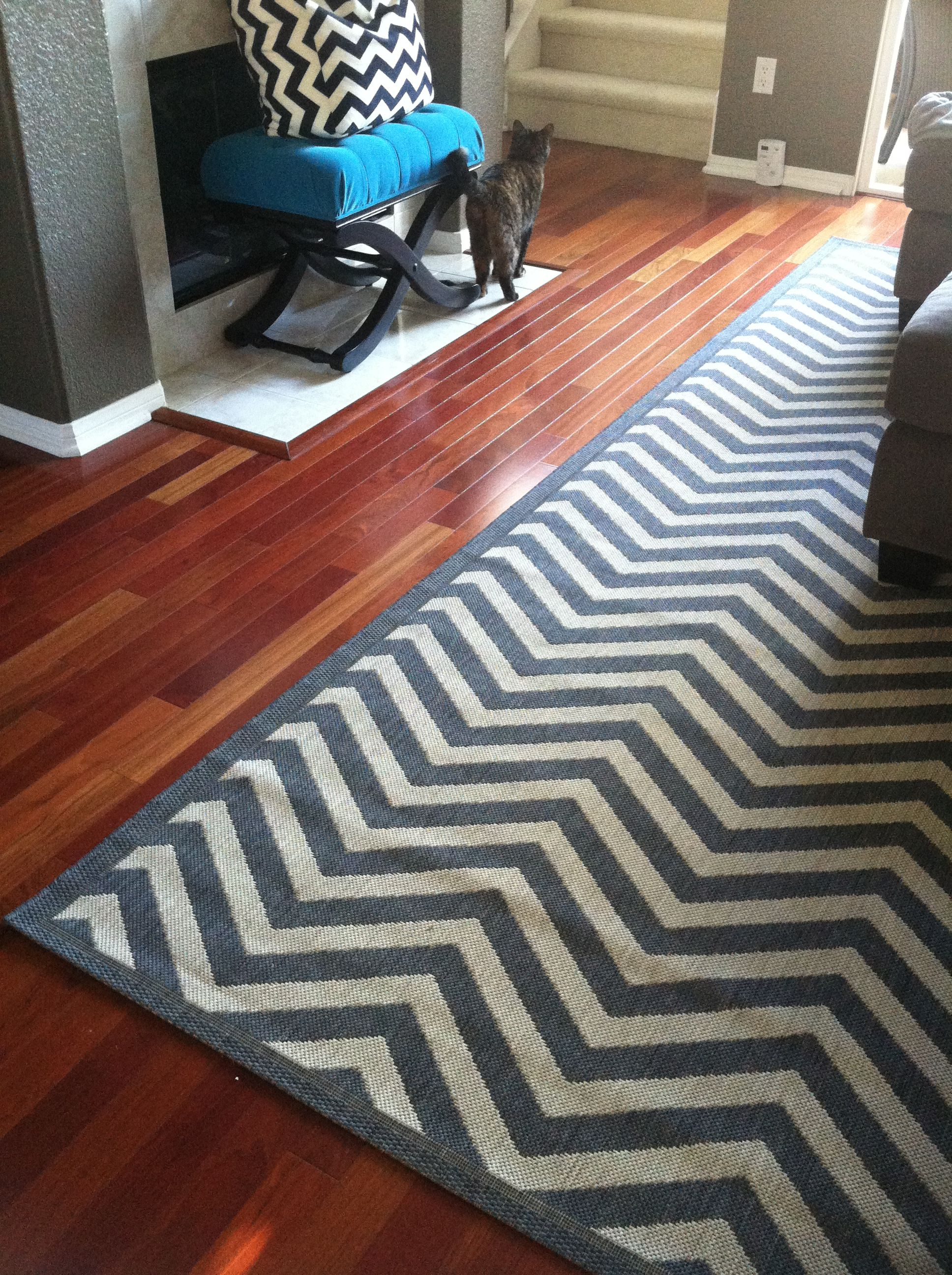 Ballard Designs Gray Chevron Rug. Just Bought These For My New Mudroom.