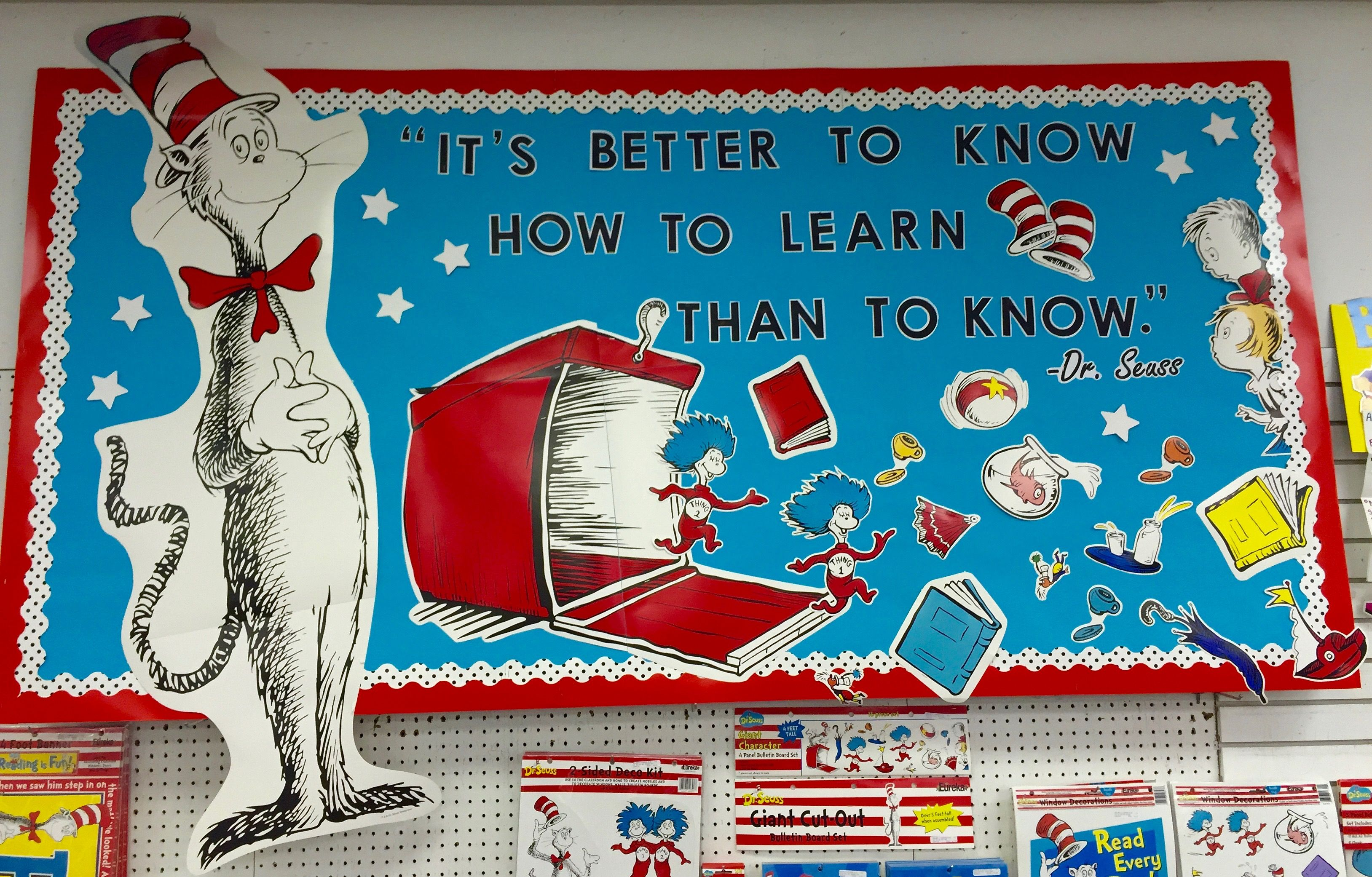 Dr Seuss Bulletin Board Idea Its Better To Know How