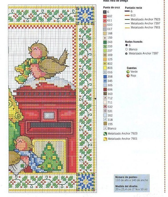 Solo Patrones Punto Cruz | Cross Stitch Christmas/Winter | Pinterest ...