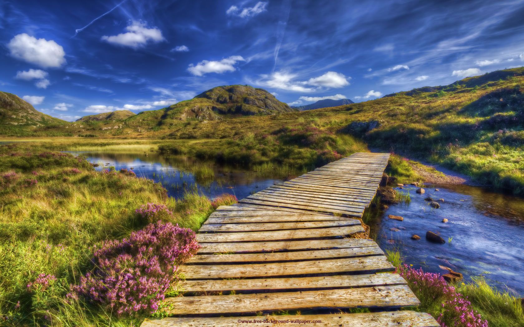 Scottish Highlands Wallpaper Beautiful Bridge Highlands