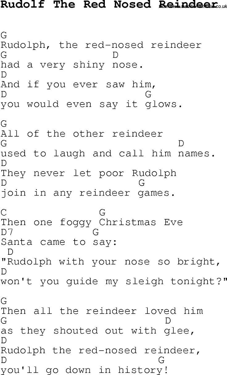 Christmas songs and carols lyrics with chords for guitar banjo christmas songs and carols lyrics with chords for guitar banjo for rudolf the red nosed hexwebz Choice Image