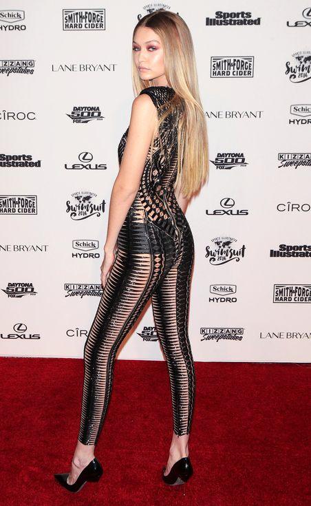 Gigi Hadid in a sexy Julian MacDonald catsuit
