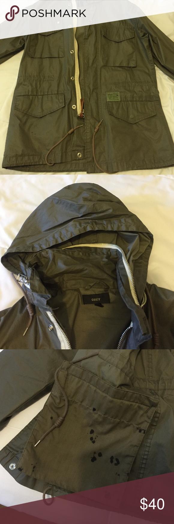 Obey jacket Nice stylish jacket, light ink damage to the pocket Obey Jackets & Coats Utility Jackets