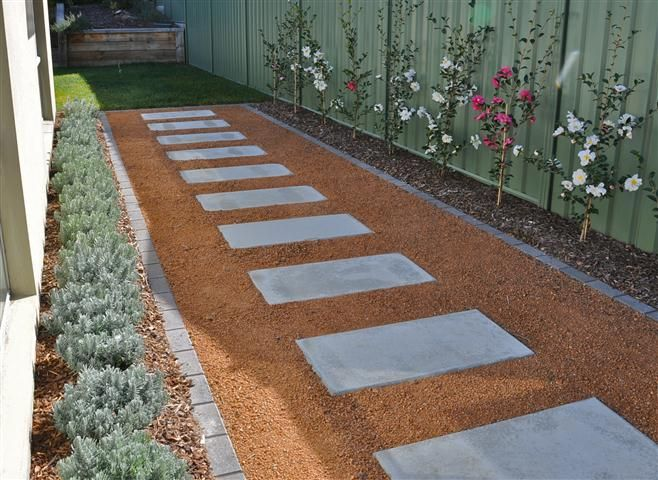 Simple Neat Low Maintenance Side Path Garden Design Garden