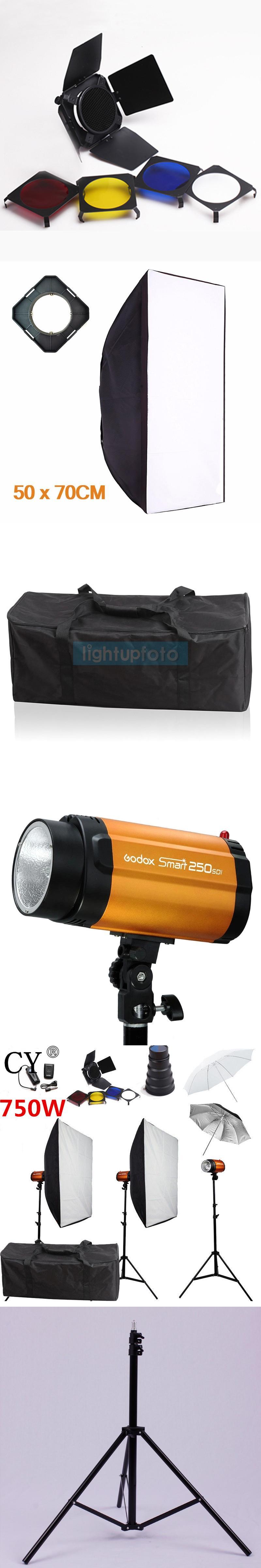 CY Photography Studio Flash Lighting Kits 750ws 220V Flash Light+ ...