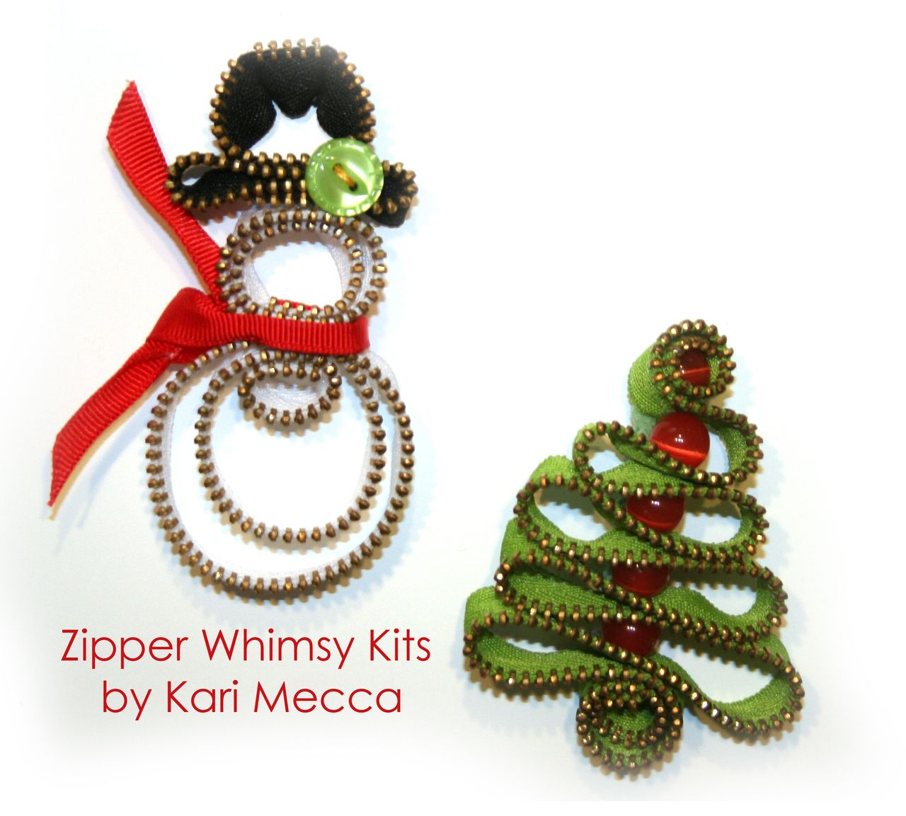 Zipper Snowman Tree Kit Zipper Crafts Christmas Jewelry Diy Zipper Flowers